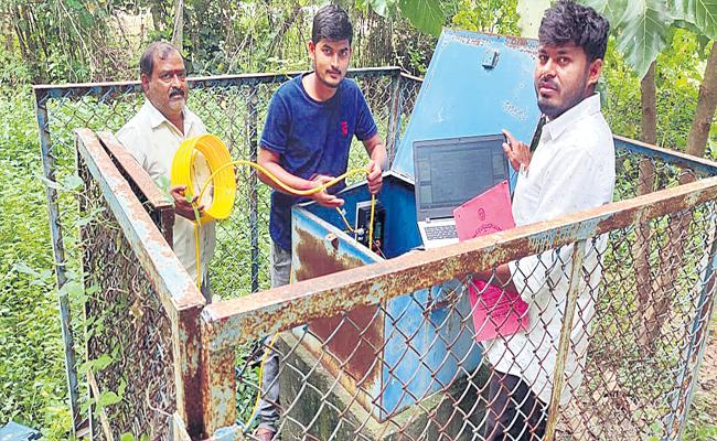 Government Made Digital Water Level Recorder Know Water Level Every Hour - Sakshi
