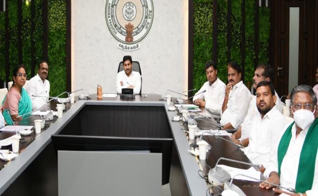 CM YS Jagan Lays Foundation For Fishing Harbour - Sakshi
