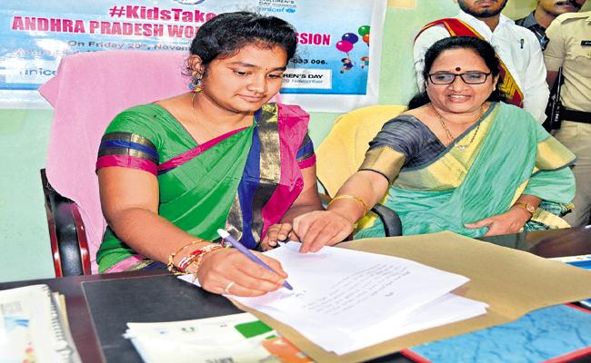 Vasireddy Padma Comments About Girl Child Welfare - Sakshi