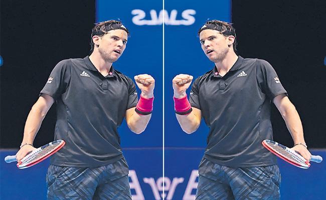 Dominic Thiem Outlasts Novak Djokovic In Tense Semi-final - Sakshi