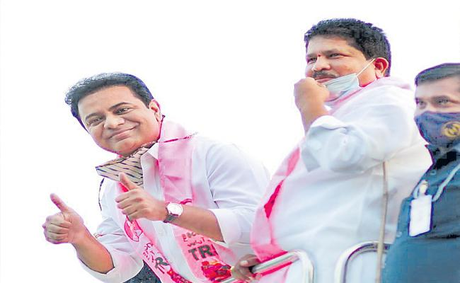 GHMC Elections 2020: KTR Road Show In Kukatpally And Qtbullapur - Sakshi