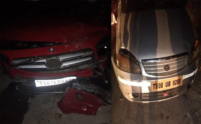 Car Accident In Banjara Hills Hyderabad - Sakshi