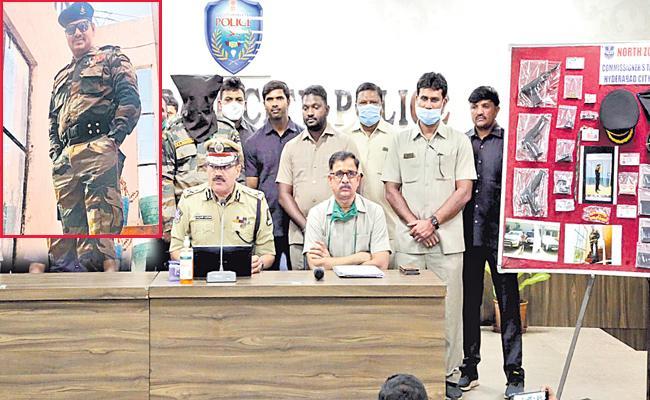 Hyderabad Taskforce Police Arrest Fake Army Officer - Sakshi