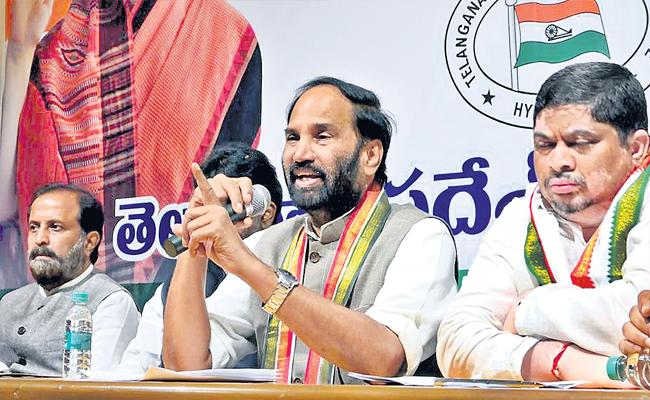 GHMC Elections 2020: Uttam Kumar Fires On TRS And BJP Asking Votes - Sakshi