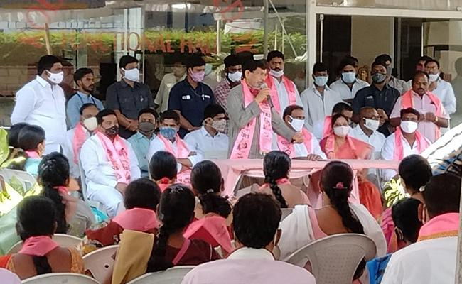 GHMC Elections 2020 Rajanna Sircilla District TRS Leaders In Campaign - Sakshi