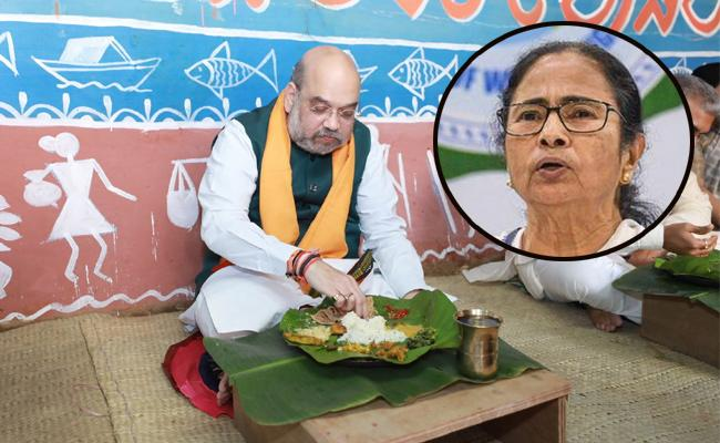 Bengal Election : Mamatha Comments About Amit Shah Food - Sakshi