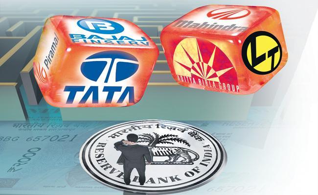 RBI to open doors to Tata-Birla and Ambani is to set up banks - Sakshi