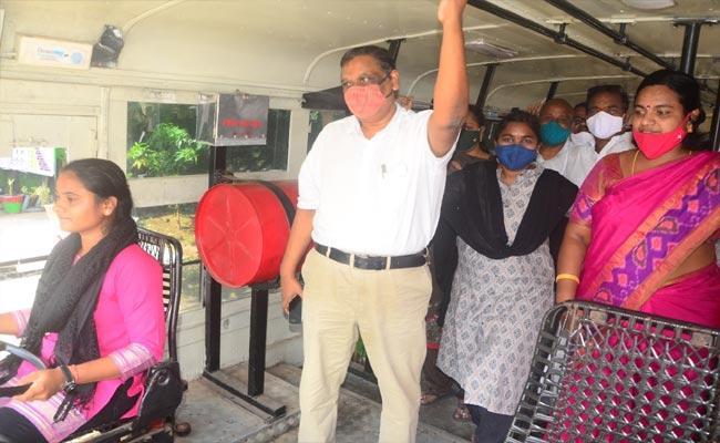 Challa Asha From Srikakulam Learned Heavy Vehicle Driving  - Sakshi
