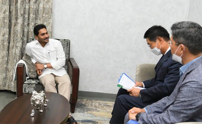 Kia Motors Officials Meet With CM Jagan - Sakshi