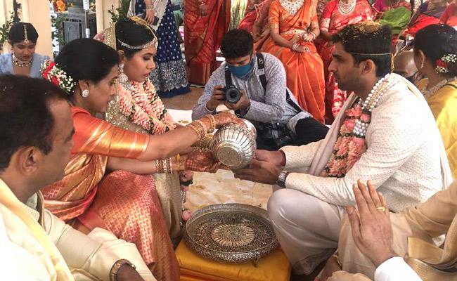 Komatireddy Venkat Reddy Daughter Wedding At Udaipur - Sakshi