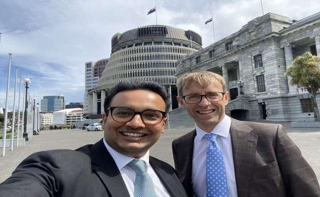 New Zealand MP Gaurav Sharma Takes Oath In Sanskrit - Sakshi