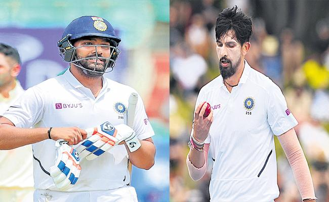 Rohith Sharma And Ishanth Sharma Ruled Out Of First Two Tests - Sakshi