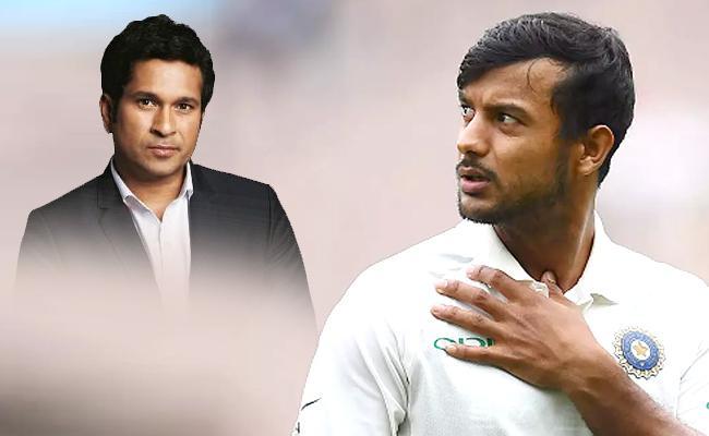 Sachin Tendulkar Picks Mayank Agarwal As India Opener Australia Tests - Sakshi