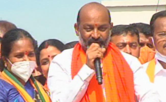 GHMC Elections 2020 BJP MP Sanjay Strong Warning To Akbaruddin Owaisi - Sakshi
