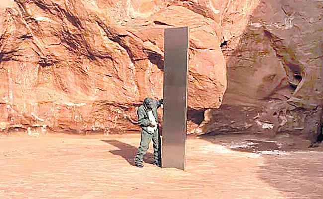 Mysterious Monolith Metal In Utah Desert At USA - Sakshi
