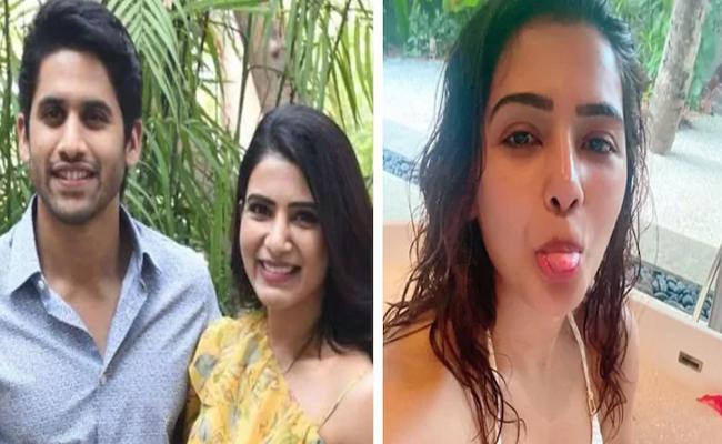 Samantha Enjoys Babble Bathtub Without Naga Chaitanya - Sakshi