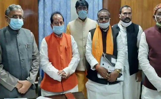 NDA Candidate Vijay Sinha Elected Bihar Speaker - Sakshi