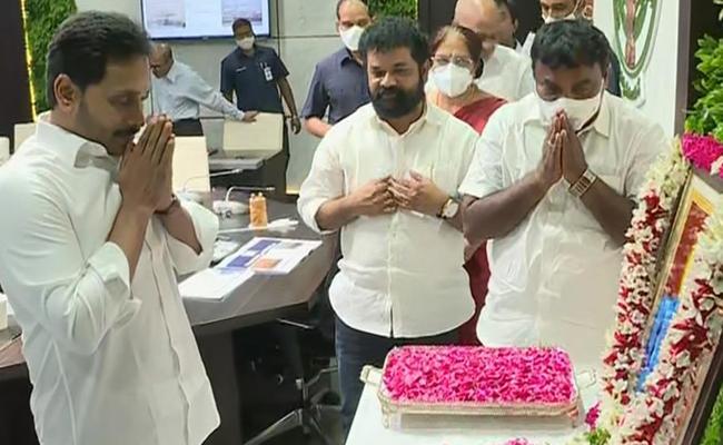CM YS Jagan Tribute To Ambedkar For Constitution Day - Sakshi