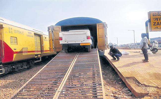 SCR Transports Automobile Goods And Vehicle From Zahirabad To Tripura - Sakshi