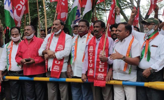 labour Workers Call To Strike Nationwide - Sakshi