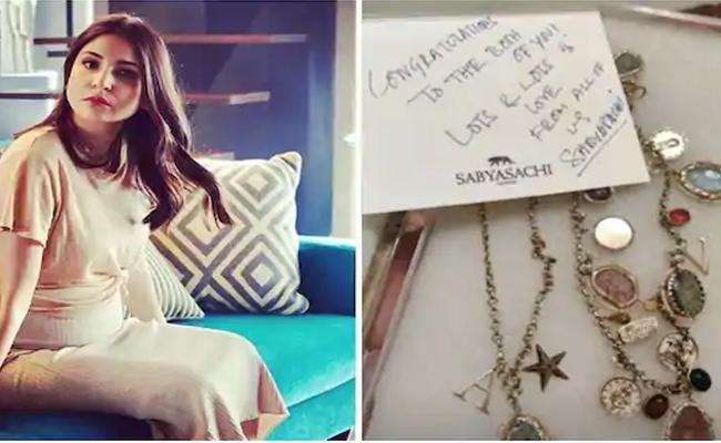 Anushka Sharma got a beautiful gift from fashion designer Sabyasachi - Sakshi