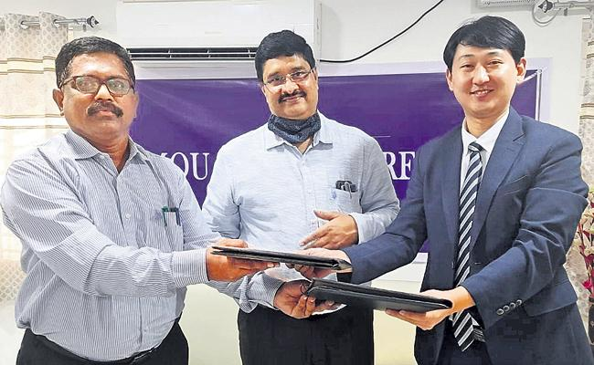 AP Higher Education Council MOU With South Korea - Sakshi