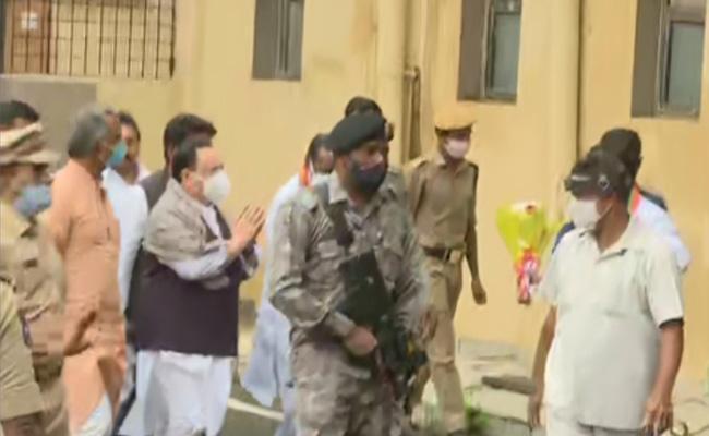 GHMC Elections 2020 BJP Leader JP Nadda Reaches Hyderabad - Sakshi
