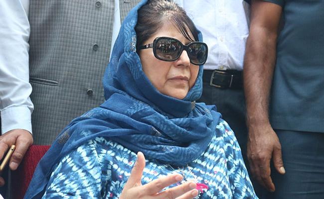 Former JK CM Mehbooba Once Again Under House Arrest - Sakshi