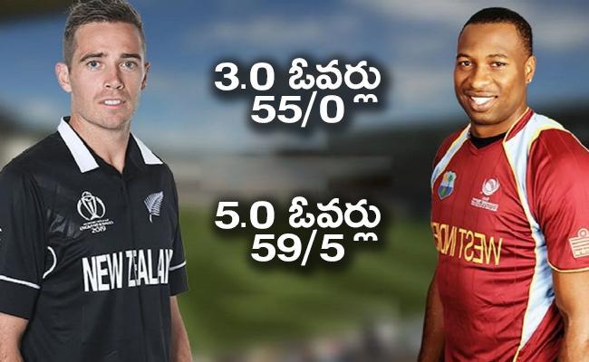 New Zealand vs West Indies T20 Target 176 Runs For NZ Team - Sakshi
