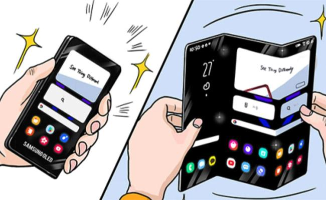 Samsung Shares Illustrations Showing New Foldable Phones for The Future - Sakshi