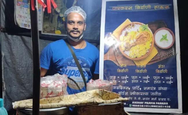 Cruise Chef Sells Biryani Roadside Stall In Mumbai - Sakshi