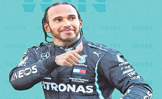 Lewis Hamilton delights in his 98th career pole at Bahrain F1 GP - Sakshi