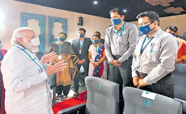 PM Modi Visit Hyderabad To Review Covid 19 Vaccine Preparation - Sakshi