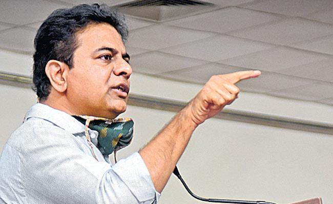 Vote for Decisive Leadership, says KTR - Sakshi