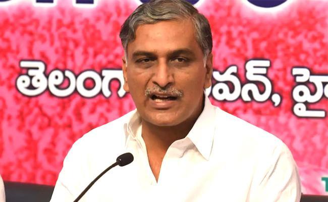 Minister Harish Rao Fires On BJP  In Patancheru  Press Meet  - Sakshi