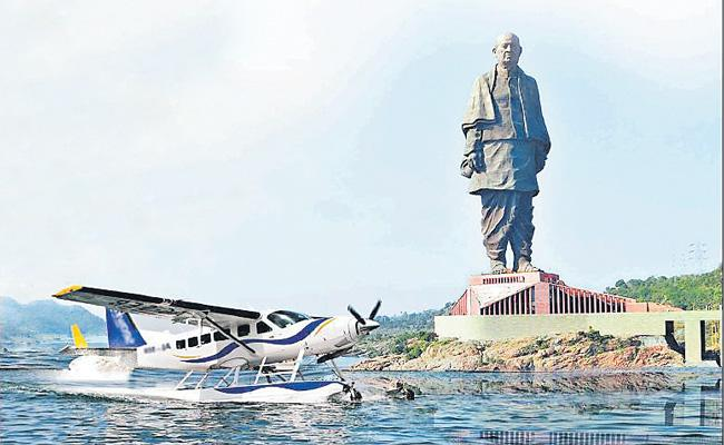 Seaplane Service Temporarily Suspended For Maintenance - Sakshi