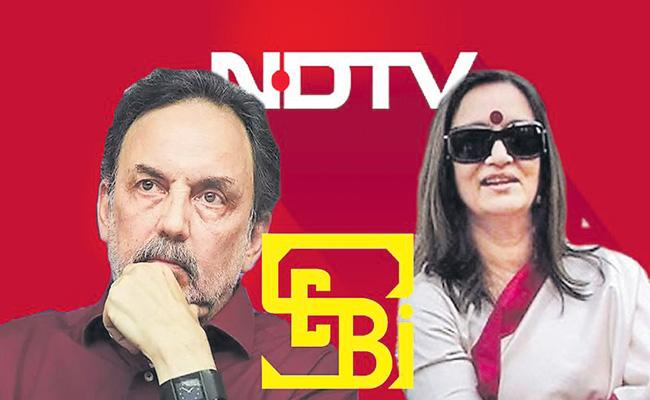 SEBI bars NDTV promoters Prannoy and Radhika Roy - Sakshi