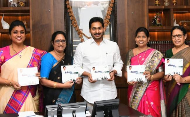 100 Days Women's March Brochure Released By CM YS Jagan - Sakshi