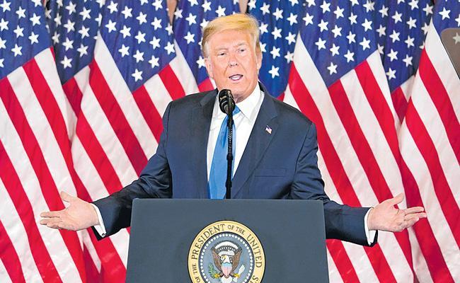 President Donald Trump says postal ballots lead to widespread fraud - Sakshi