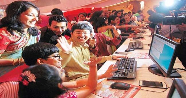 Sensex @ 41,000- Nifty @ 12,000- Market jumps - Sakshi
