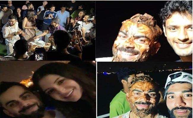 Virat Kohli Cuts Cake With Anushka Sharma Goes Viral In Social Media - Sakshi