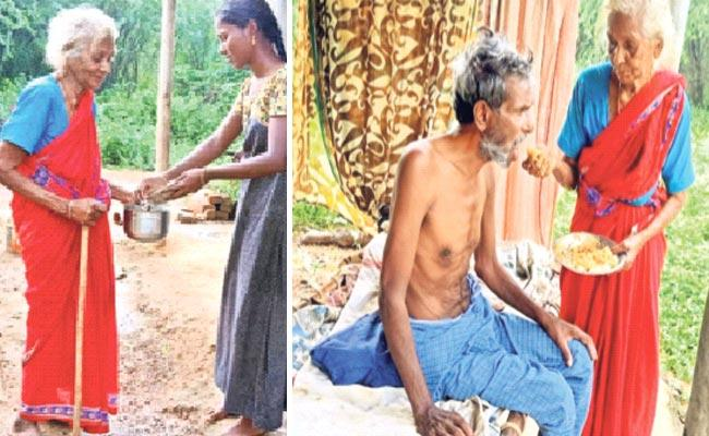 An Old Woman Who Became Begging For Her Son - Sakshi