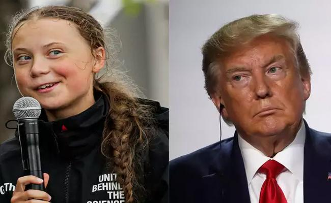 Greta Thunberg Trolls Trump Chill, Donald, Chill With His Own Words - Sakshi