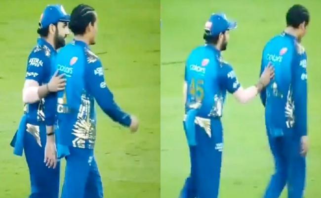 Rohit Sharmas Heartwarming Gesture For Rahul Chahar - Sakshi