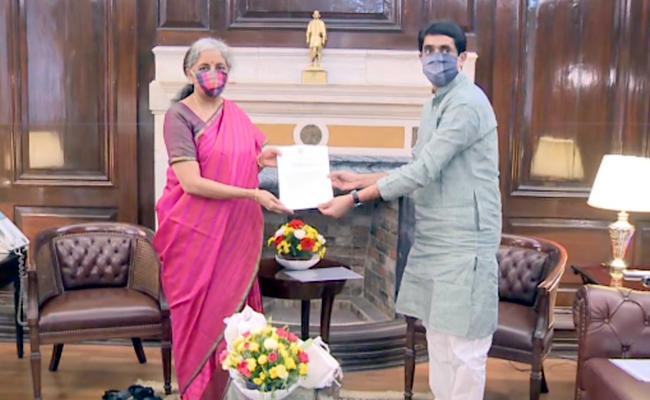 Buggana Rajendranath Met With Nirmala Sitharaman About Polavaram Issue - Sakshi