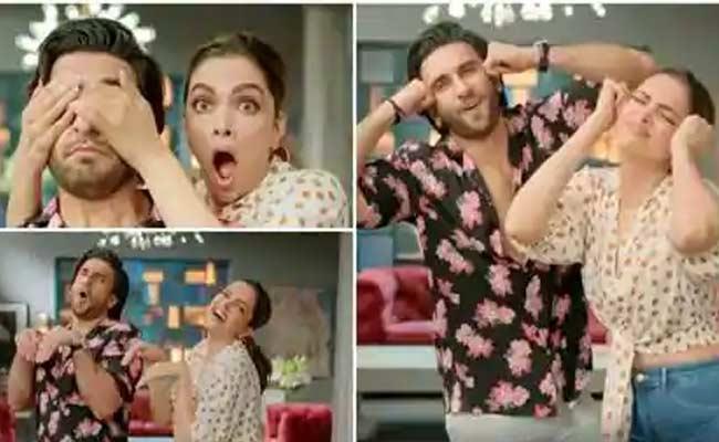 Deepika Padukone And Ranveer Singh Dance Together In Their First Ad - Sakshi