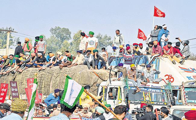 Farmer unions agree to meet Centre today - Sakshi