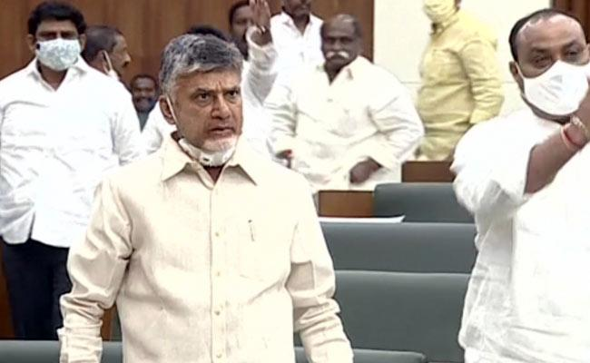 AP Assembly Session 2020: 12 TDP MLAs Suspended For A Day - Sakshi