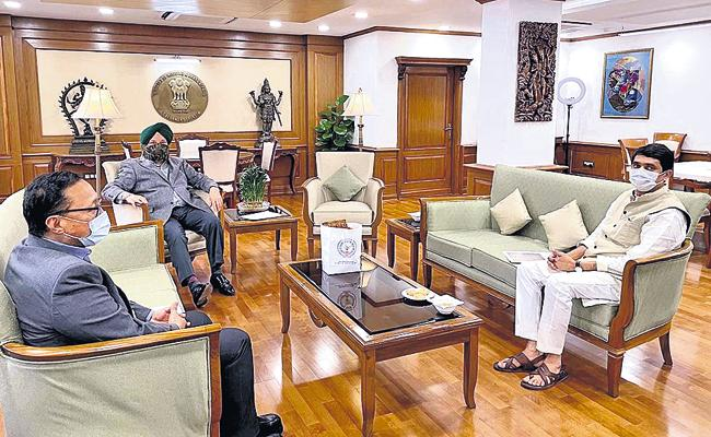 Buggana Rajendranath Meets Minister of Civil Aviation - Sakshi