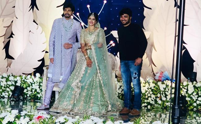 Niharika Konidela And Chaitanya Reception Photos Goes Viral - Sakshi